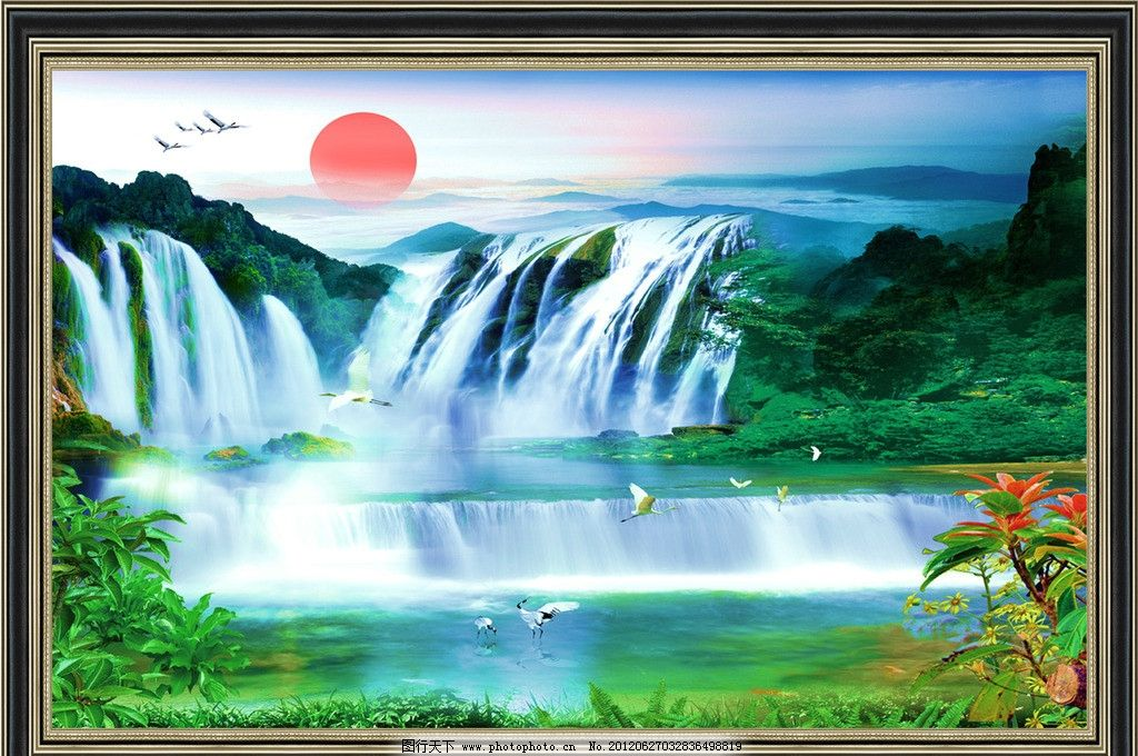 自然风光 蓝天碧水 风景图片 天上人间 大展鸿图 招财进宝 自然山水