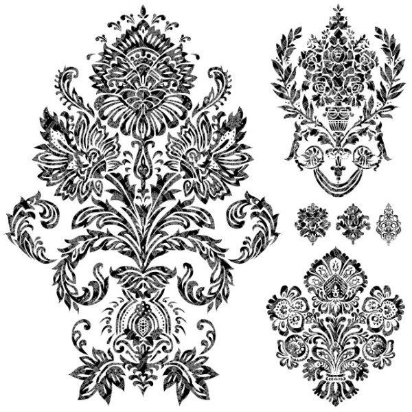 黑白花纹图案欧式免费下载 雕花 花纹 花样 矢量素材 拓印 纹样 线条