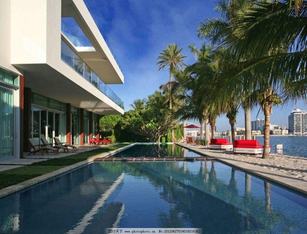 迈阿密海滨风景图片