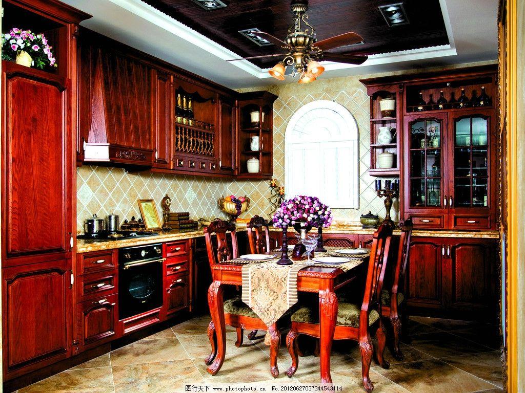 整体厨房 椅子 柜子 酒柜 红酒 杯子 红木 实木 欧式 古典 古典