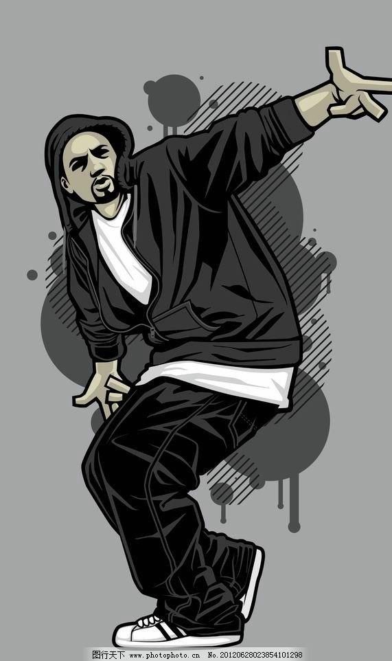 舞蹈帅哥酷哥 舞蹈 帅哥 酷哥 男人 男孩 表情 动作 姿势 时尚 手绘