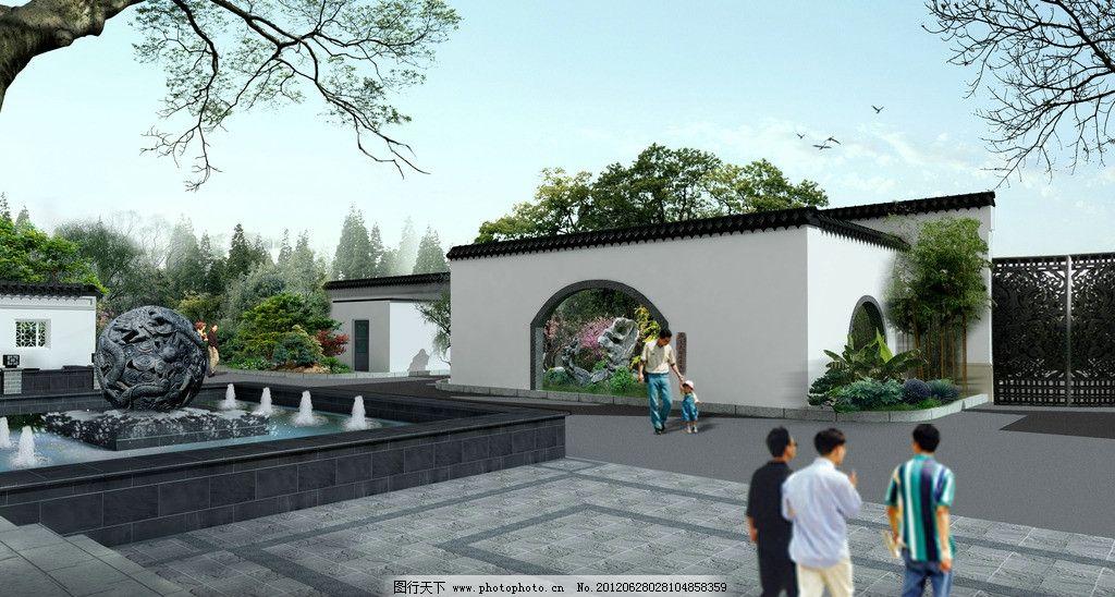 园林景观 苏州园林 江南 庭院 景观设计 环境设计 设计 72dpi jpg