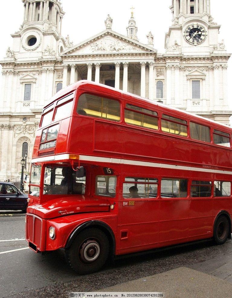 伦敦街道 伦敦风景 公交车