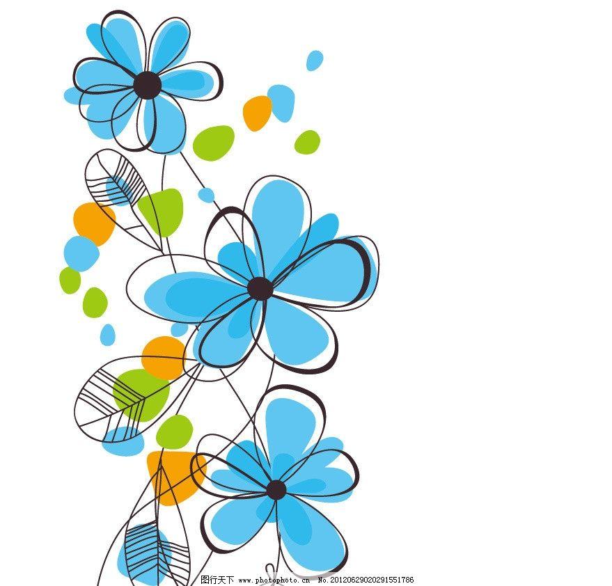 盛开 美丽 手绘 背景 底纹 矢量 手绘可爱花纹花朵 底纹背景 底纹边框