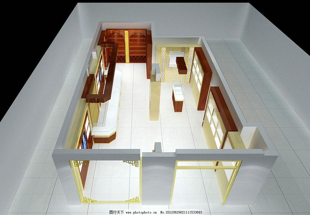 玉器 红酒展厅 俯视图 红酒展架 展厅设计