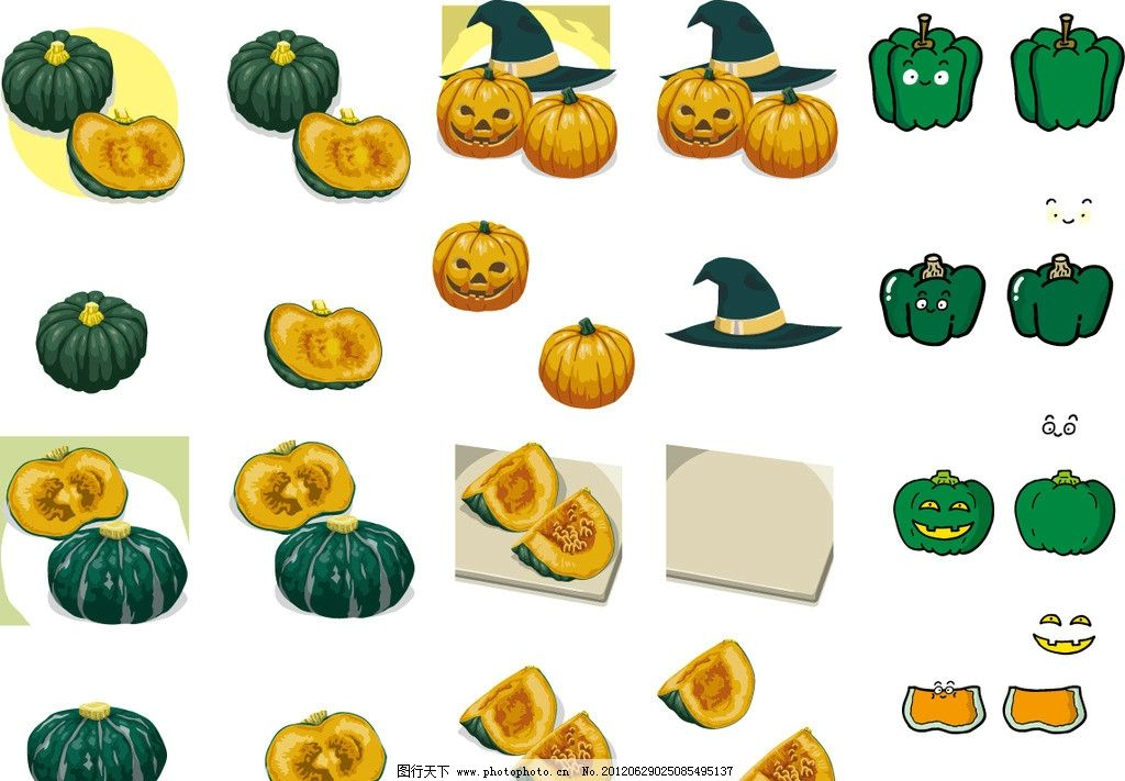 农作物 食材 手绘 插画 插图 q版 可爱 卡通 表情 符号 开心 图标