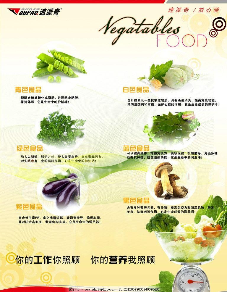 食堂营养用餐 食堂 营养用餐 蔬菜 颜色食物 展板模板 广告设计模板