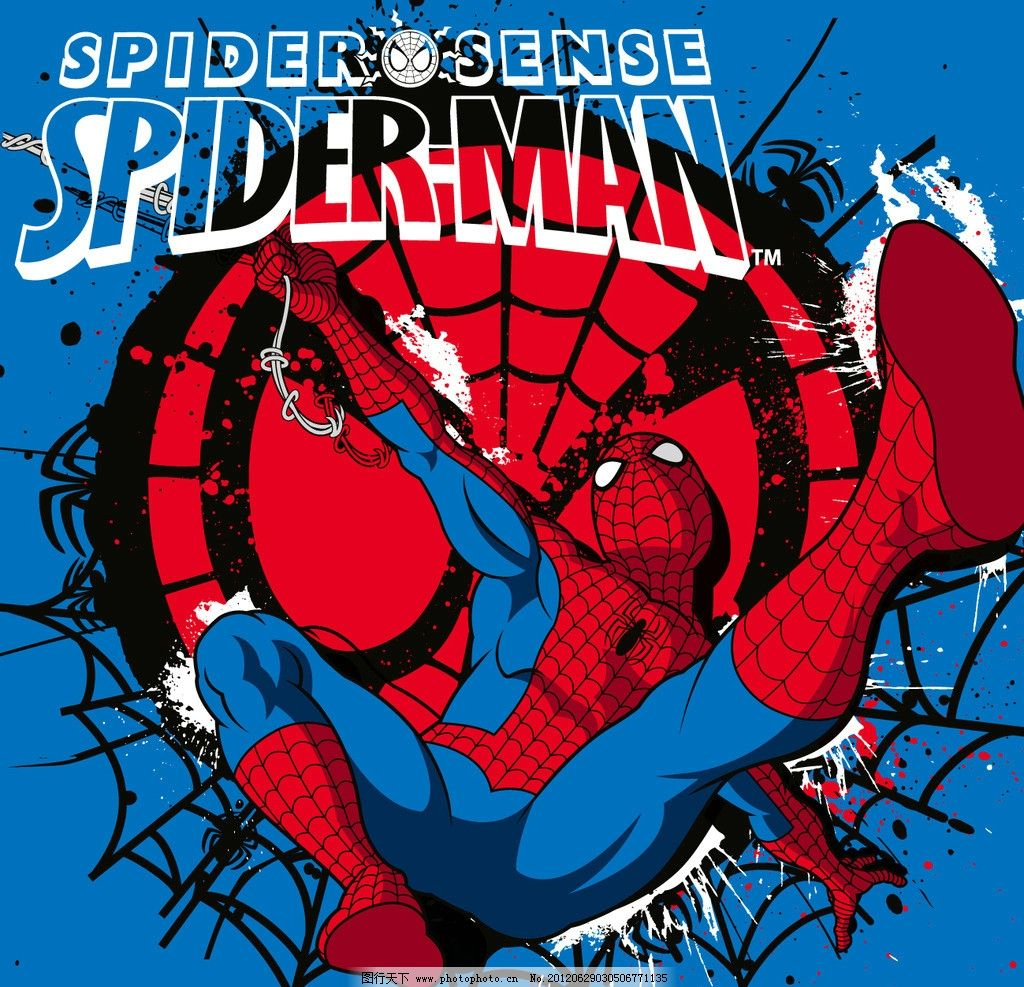 蜘蛛侠 蜘蛛网 卡通 可爱