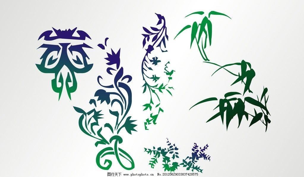 花纹 竹子 纹路 花纹素材 矢量 树叶 叶子 矢量素材 其他矢量 cdr