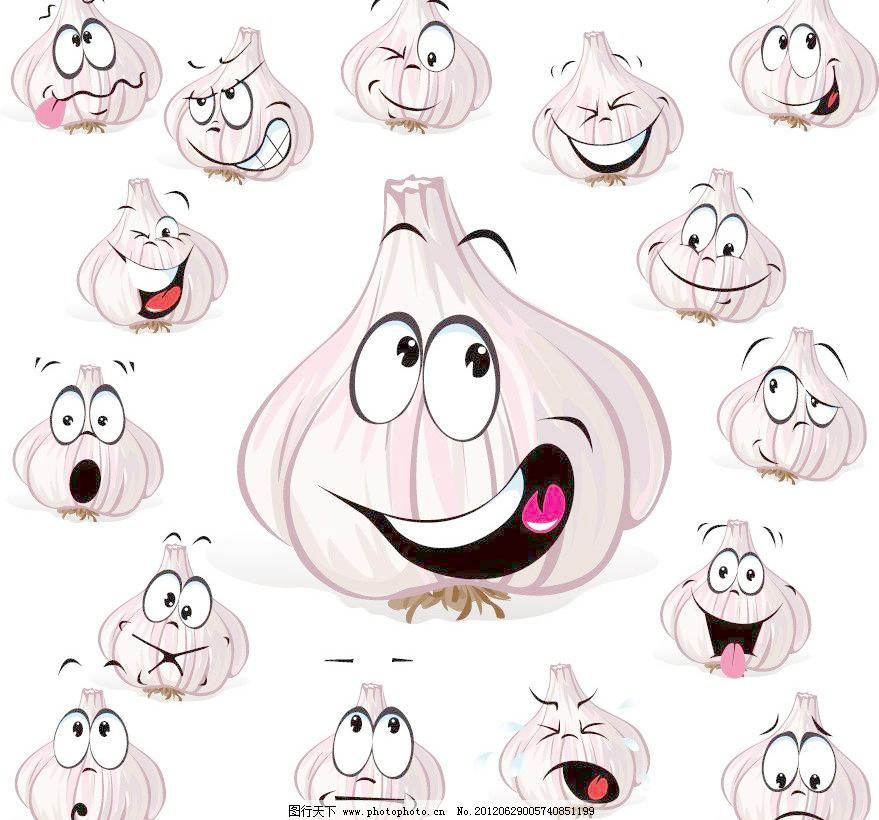 eps 表情 大蒜 广告设计 卡通 卡通设计 手绘 蔬菜 卡通大蒜表情矢量