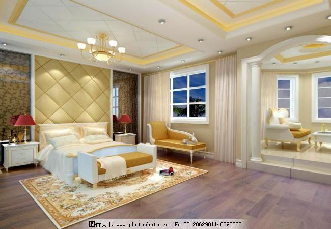 别墅欧式大主卧室图片