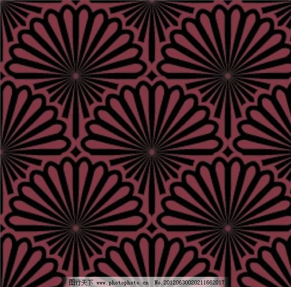 扇形花瓣背景底纹图片