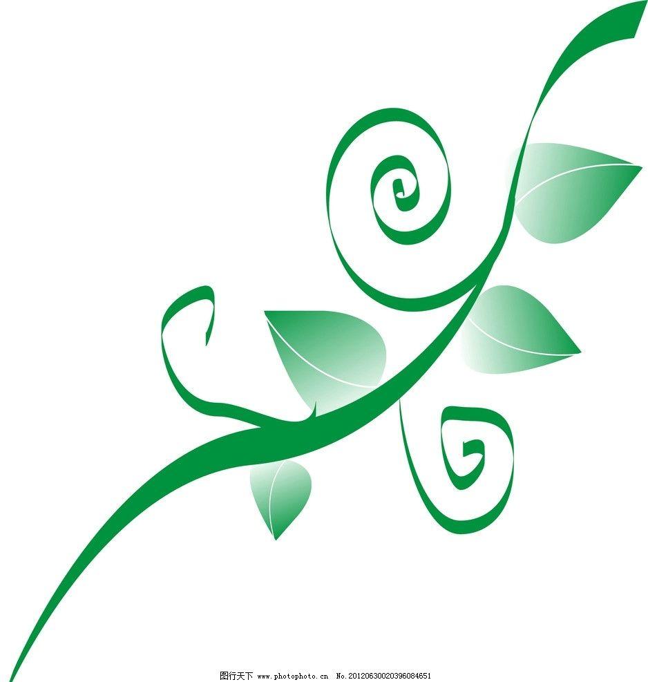 藤与叶子 花边花纹 底纹边框 设计 300dpi jpg
