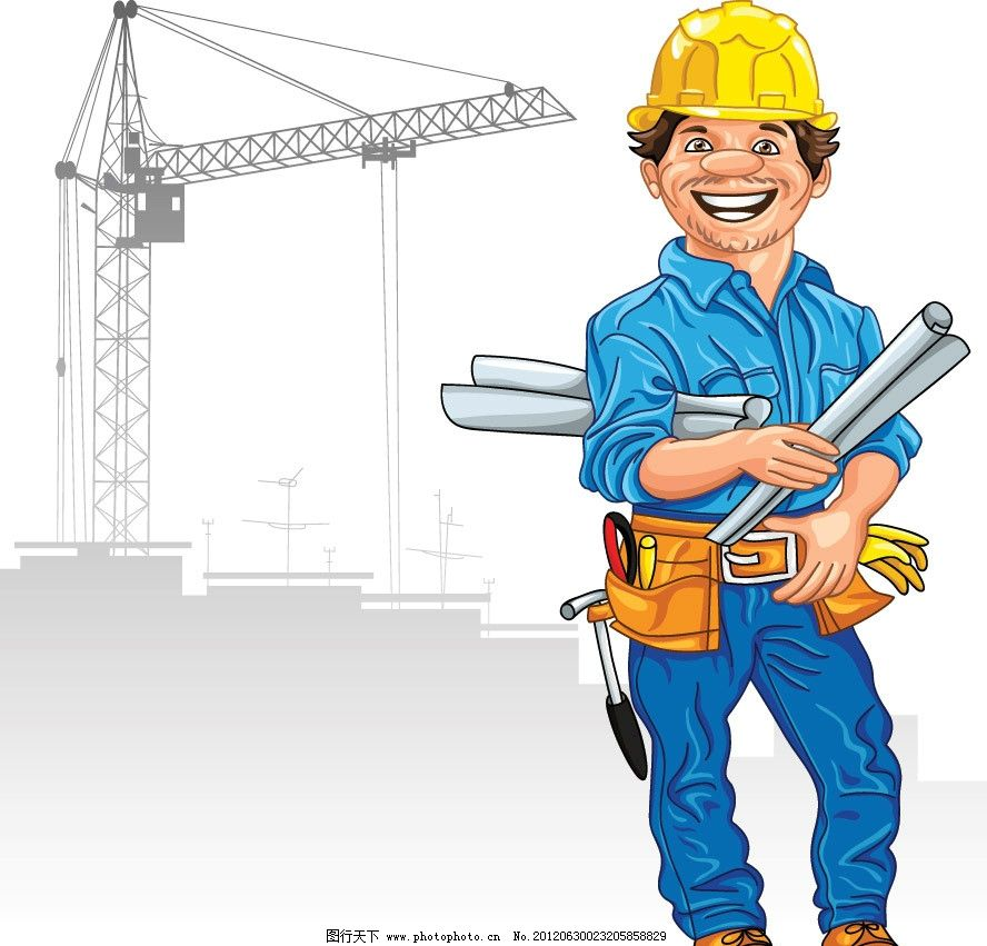 建筑工地建筑工人图片