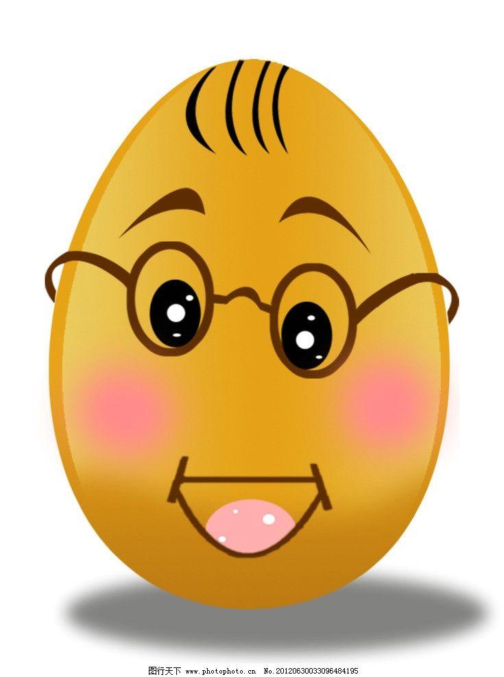 鸡蛋 卡通鸡蛋 可爱鸡蛋 ps素材 psd分层素材 源文件 72dpi psd