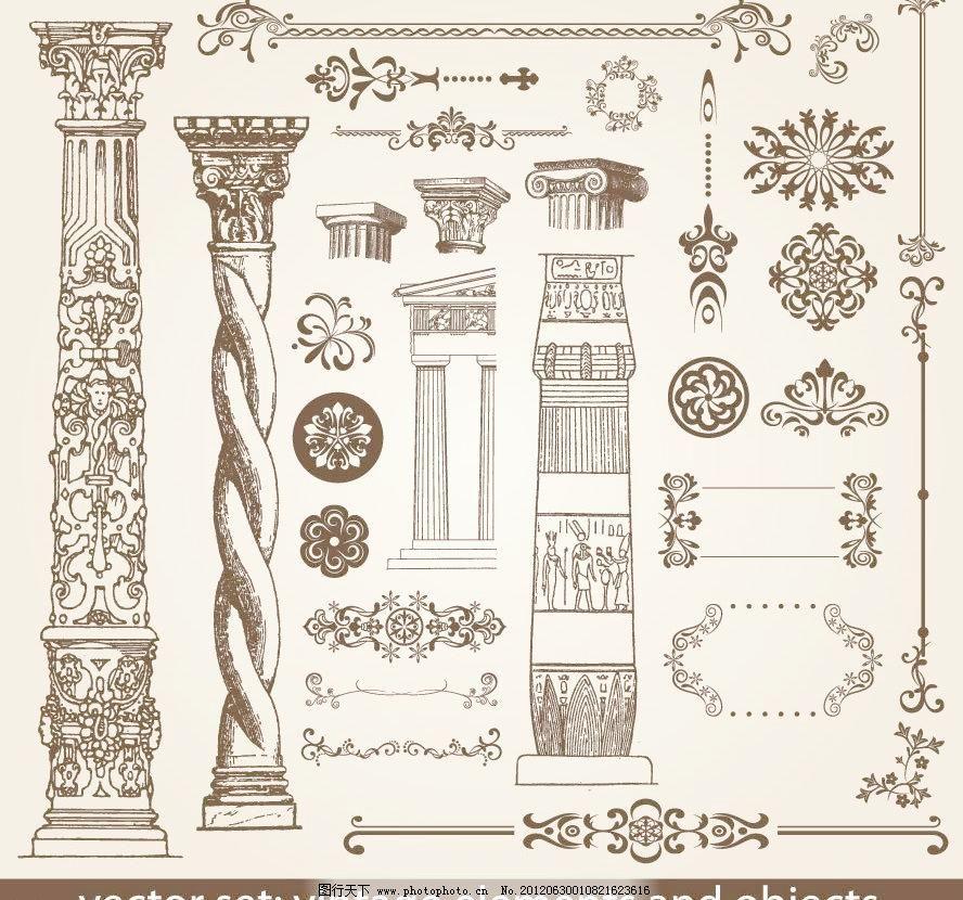 欧式建筑 欧式花纹 边框图片